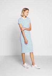 Polo Ralph Lauren - PIMA - Žerzejové šaty - white/rivera blu - 0