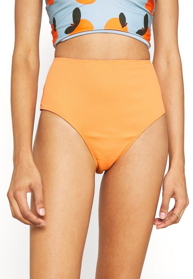 TIA REVERSIBLE HIGH WAIST PANT - Bikinibukser - salmon/rust