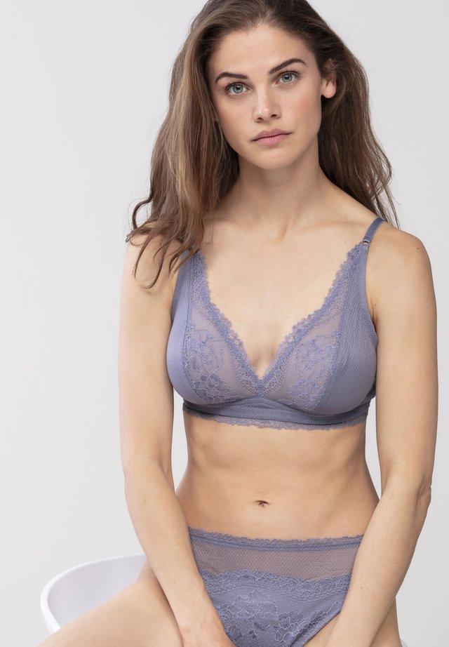 OHNE BÜGEL - Balconette bra - misty blue