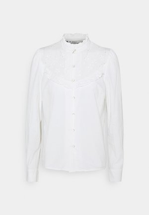 ONLNANCY  EMBRODERY - Button-down blouse - cloud dancer