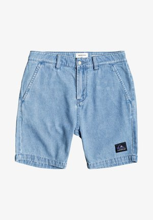 CHAMBRAY  - Denim shorts - blue