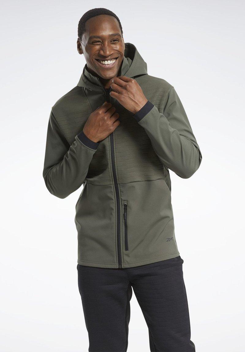 Reebok - THERMOWARM DELTAPEAK FULL-ZIP CONTROL - Zip-up hoodie - green