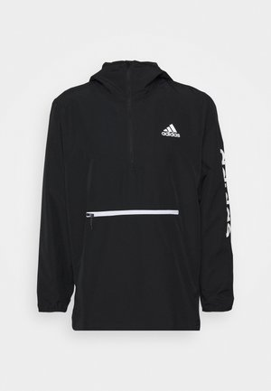 AEROREADY TRAINING LOOSE JACKET - Sportovní bunda - black/white