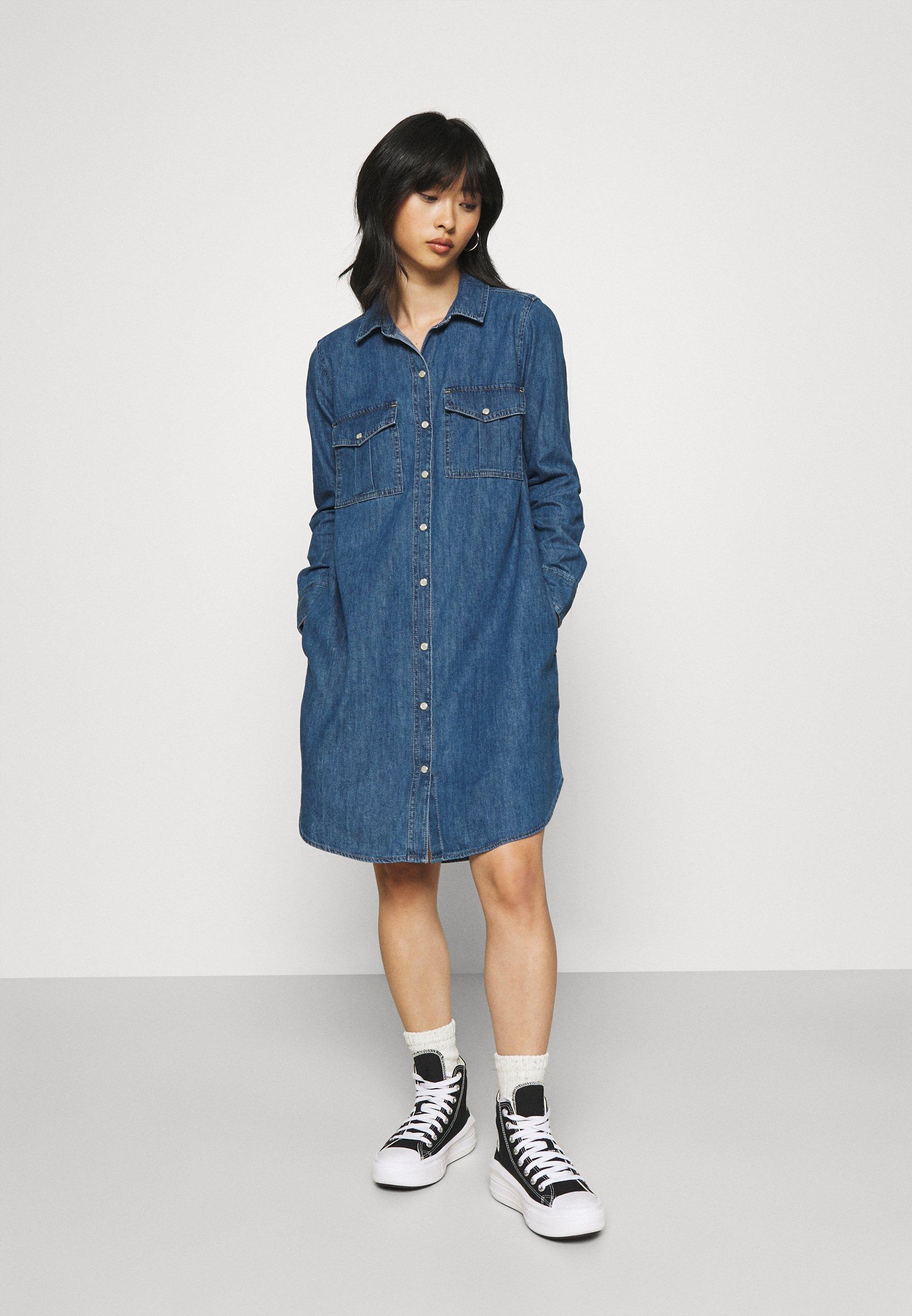 Women UTILITY DRESS - Denim dress