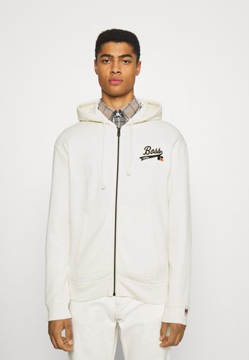 BOSS X RUSSELL ATHLETIC SANYO - Zip-up sweatshirt - open white