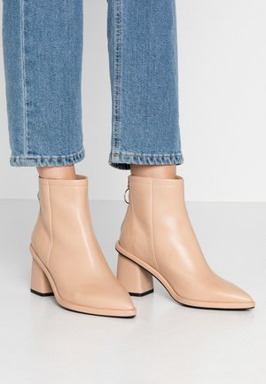 Ankle boots - beige