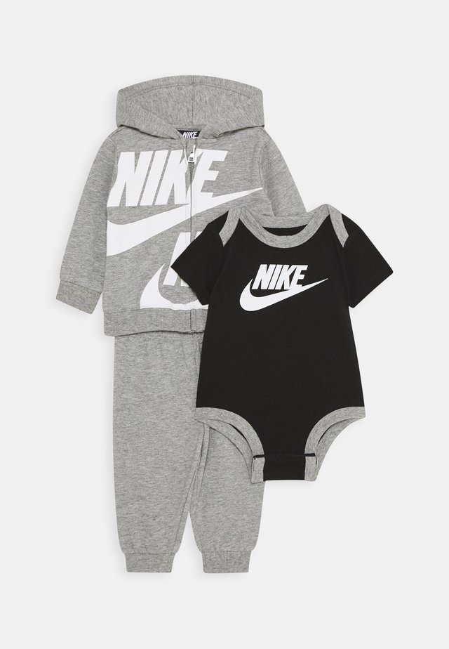SPLIT FUTURA PANT BABY SET - Body - dark grey heather