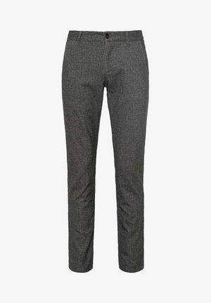 LOU J TWO TONE - Trousers - dark grey