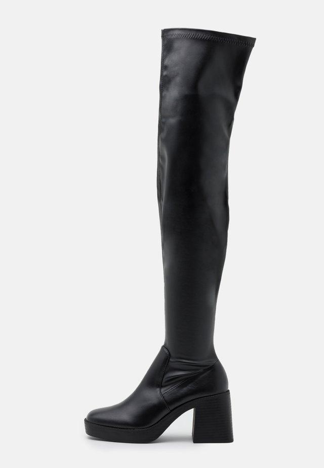 JOYEN - Boots med høye hæler - black