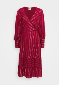 Farm Rio - BURGUNDY STRIPES DRESS - Day dress - pink - 4