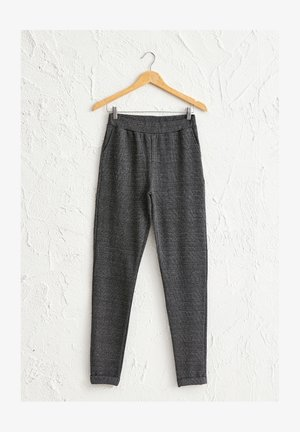 MIT GUMMIZUG  - Tracksuit bottoms - grey