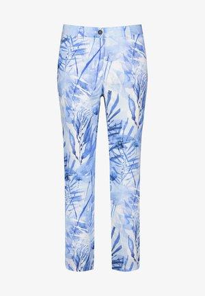 Trousers - blau druck