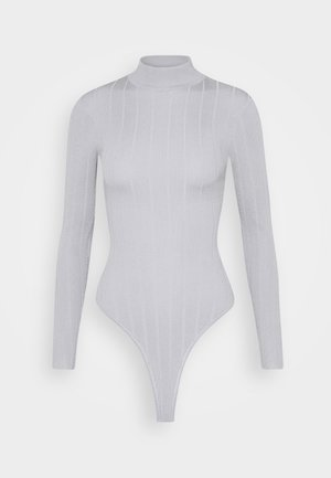 EXTREME HIGH NECK - Long sleeved top - grey