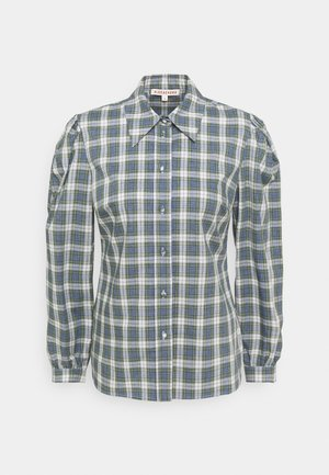 CLASSIC SLIM FIT SHIRT - Blouse - washed green/pale blue