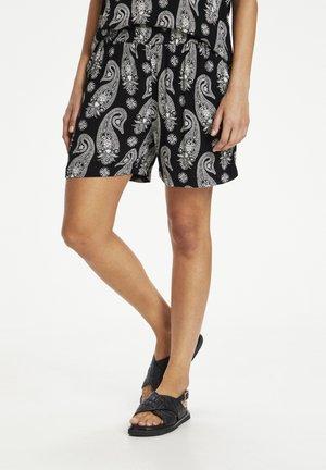 Shorts - black / chalk paisley