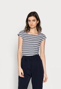 Gap Tall - BATEAU STRIPE - Print T-shirt - navy - 0
