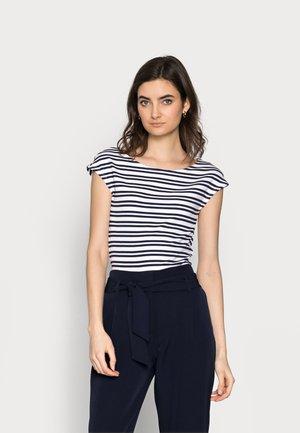BATEAU STRIPE - T-shirt con stampa - navy