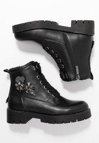 JETTE - Platform ankle boots - black - 3