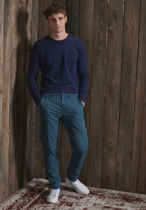 Cargo trousers - utility blue