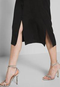Calvin Klein - BELTED MIDI DRESS - Shirt dress - black - 3