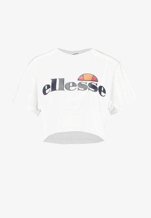 ALBERTA CROP  - T-shirt med print - optic white