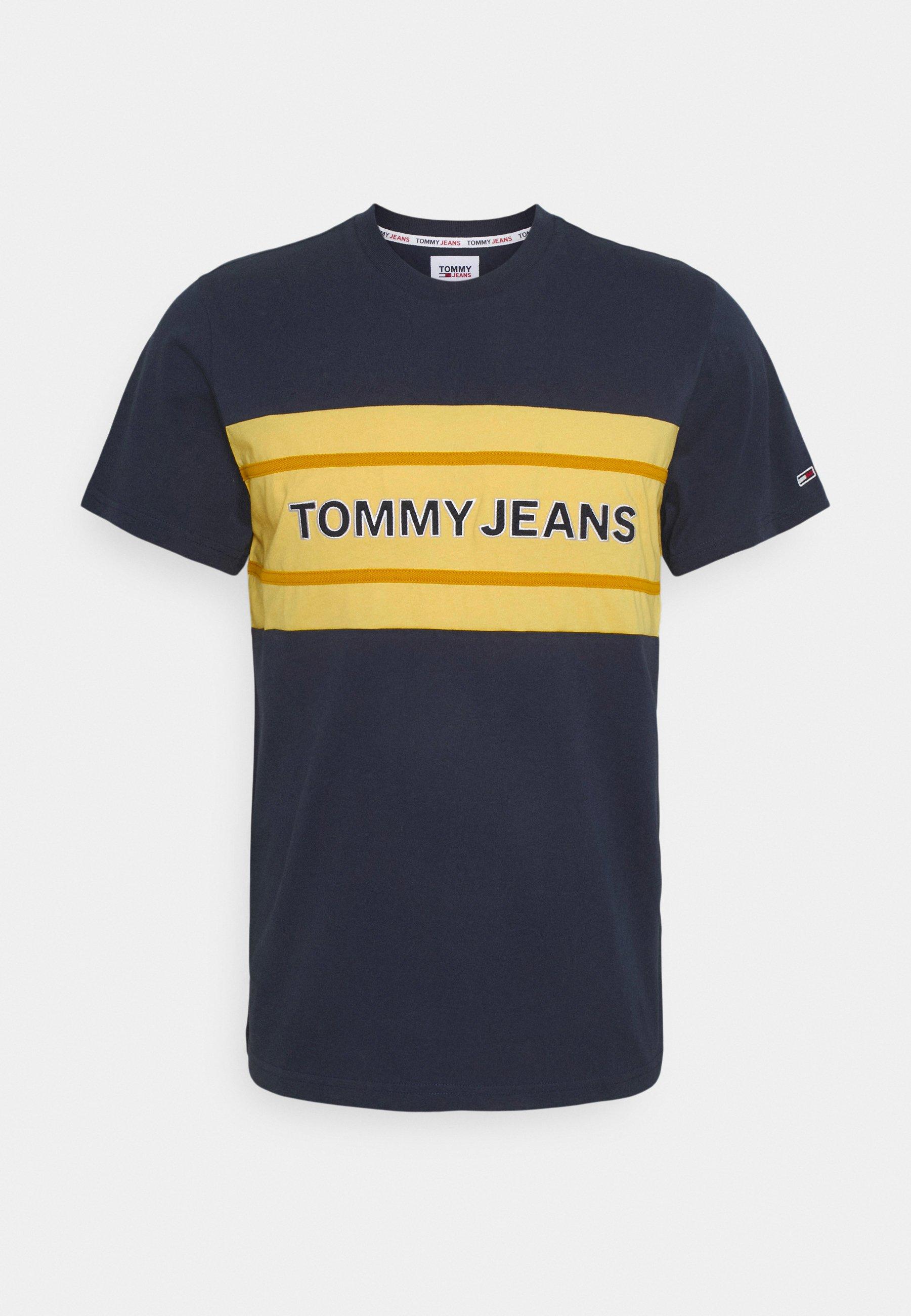 Men STRIPE COLORBLOCK TEE - Print T-shirt