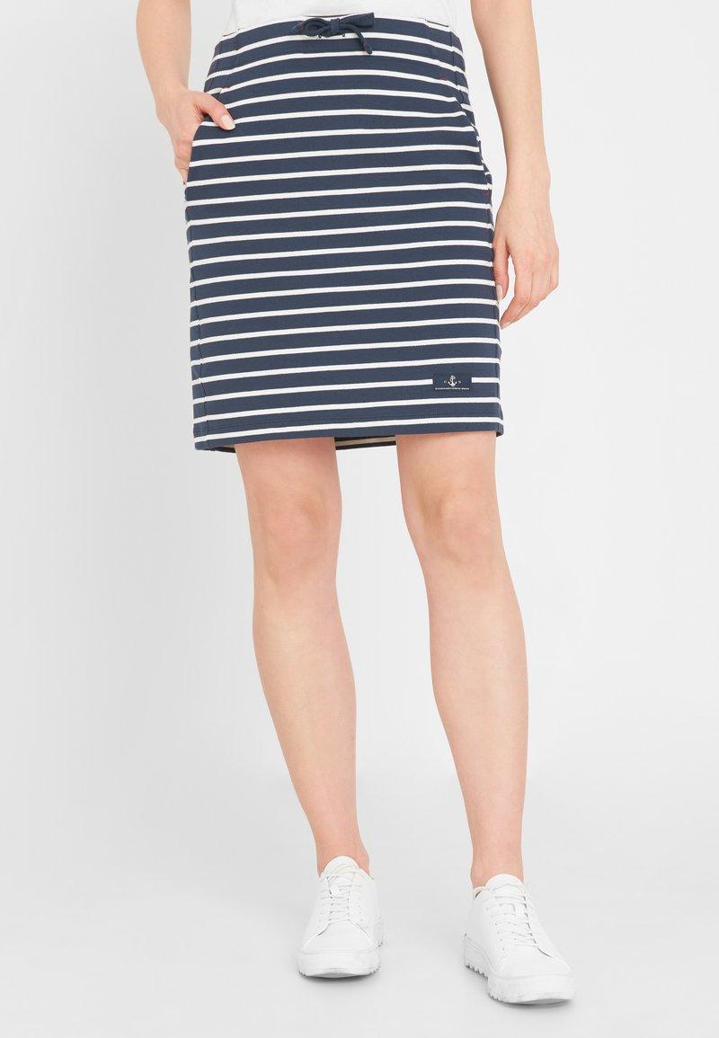 Sea Ranch - Pencil skirt - navy pearl breton