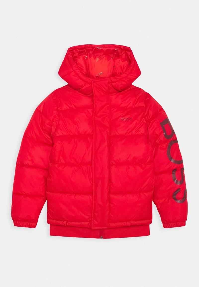 BOSS Kidswear - PUFFER JACKET - Chaqueta de invierno - red