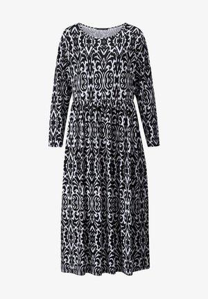 JERSEY KLEID - Maxi dress - schwarz,champagner