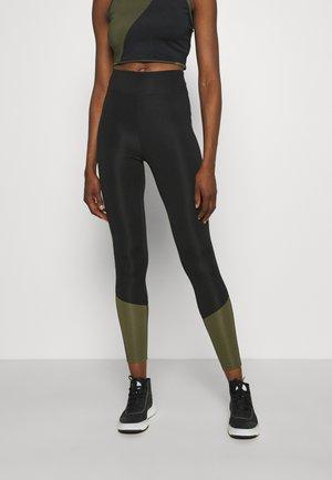 Leggings - black/khaki