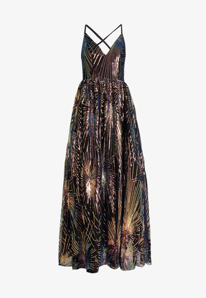 ALL OVER SEQUIN MAXI DRESS WITH THIGH SPLIT - Ballkjole - multi