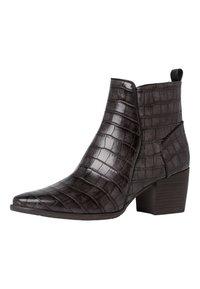 Marco Tozzi - Cowboy/biker ankle boot - dk.grey croco - 2