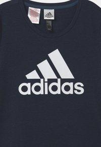 adidas Performance - LOGO UNISEX - Print T-shirt - dark blue/white - 2