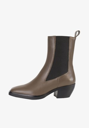 Ankle boots - oliv