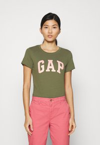 GAP - TEE - Print T-shirt - army green - 0