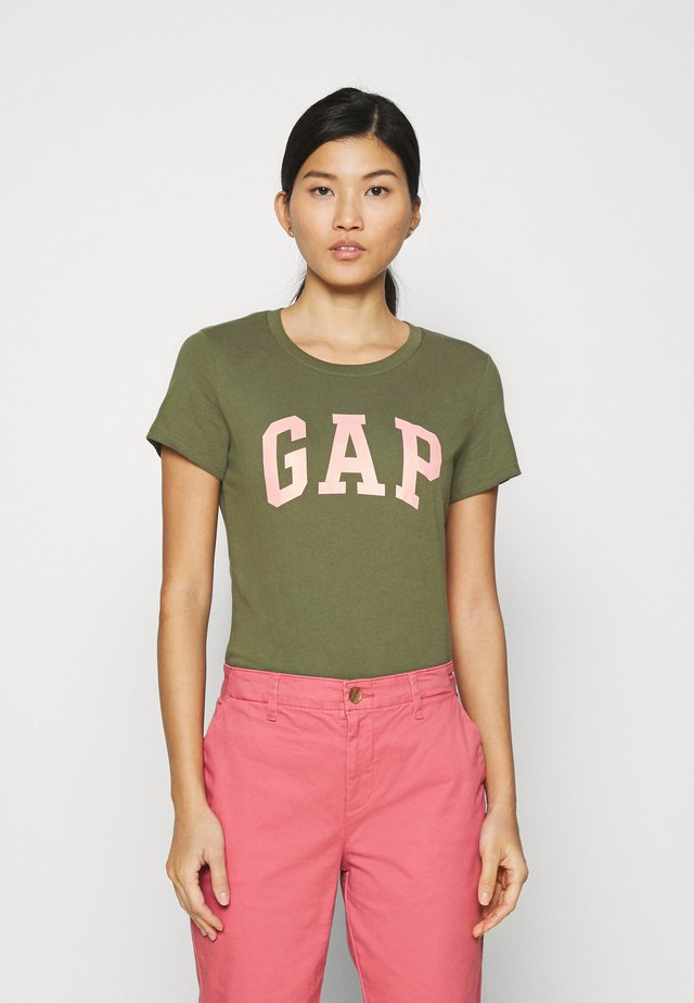 TEE - Print T-shirt - army green