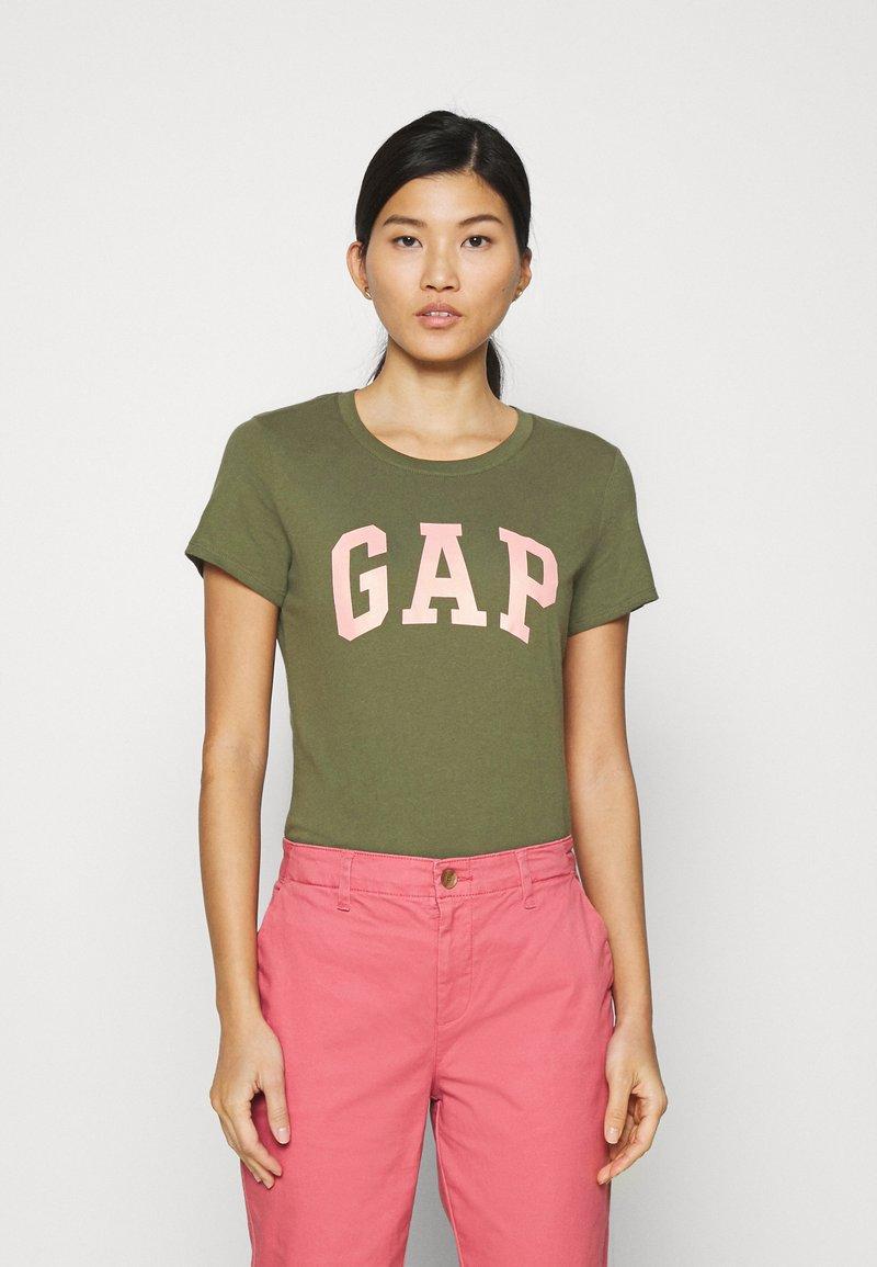 GAP - TEE - Print T-shirt - army green