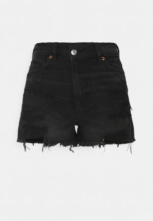ASYM MOM  - Denim shorts - destroyed black