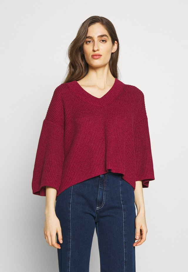 Pullover - plum purple