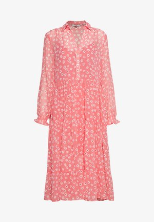 FLORAL MIDI SHIRT DRESS - Day dress - floral/glamour pink