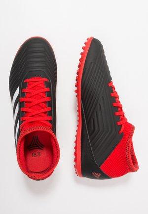 PREDATOR TANGO 18.3 TF - Astro turf trainers - core black/footwear white/red