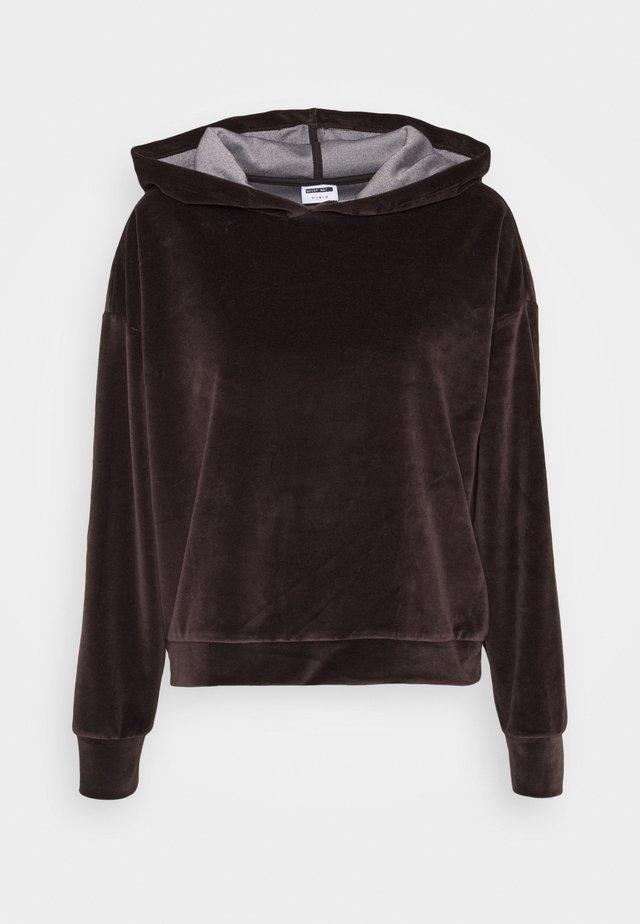 NMABBY HOODIE TALL - Sweatshirts - chocolate brown