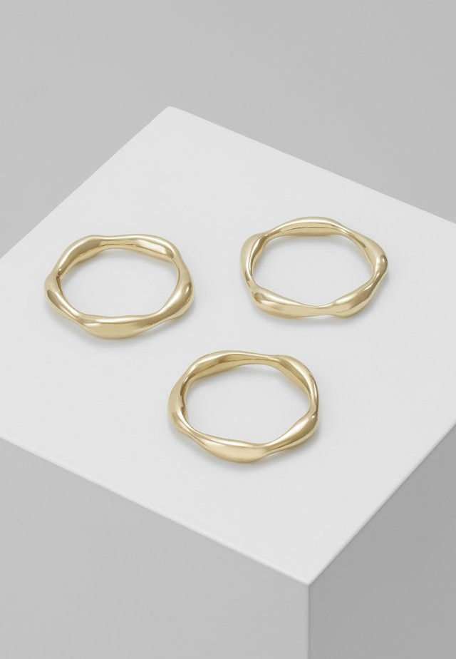 MOTO STACKING RINGS 3 PACK - Sormus - gold-coloured
