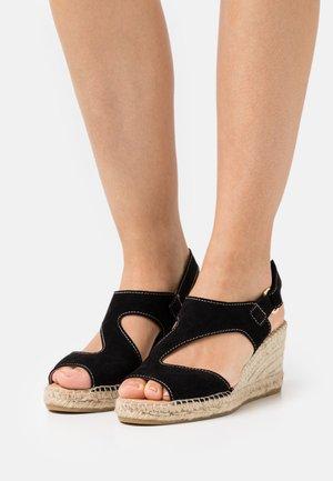 ANIA - Sandály na platformě - schwarz