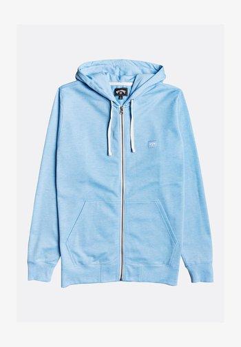 ALL DAY ZIP SWEAT  CAPUCHE HOMME - Zip-up sweatshirt - dusty blue