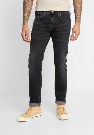 ED-55 REGULAR TAPERED - Straight leg jeans -  black denim
