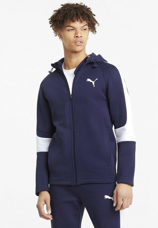 Zip-up hoodie - peacoat