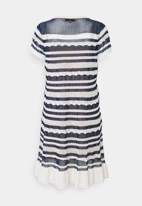 TWINSET - ABITO TRASPARENZE E BALZE - Jumper dress - neve/nero - 8