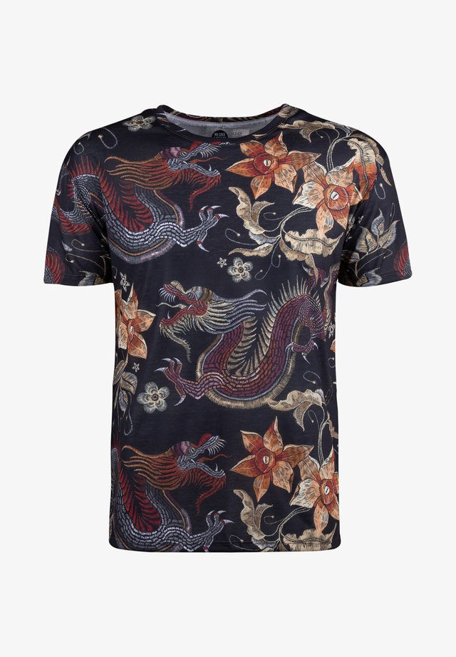 JAPANESE DRAGON  - Printtipaita - black