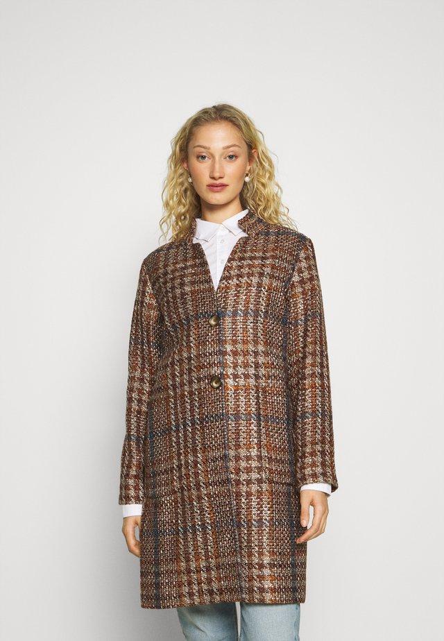 COAT - Manteau classique - terracotta multicolor